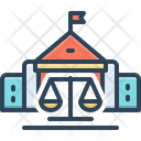 Courts Authority Balance Icon
