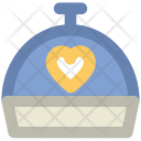 Covered Food Heart Icon