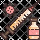Vaccine Syringe Virus Icon
