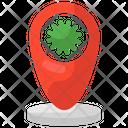 Covid Location Virus Address Virus Place Icon