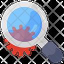 Covid Research Virus Search Bacteria Research Icon