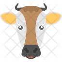 Cow Face Long Icon