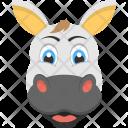 White Cow Face Icon