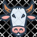 Cow Face Animal Icon