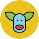 Cow Cattle Face Icon