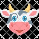 Cow Face Mammal Icon