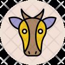 Cow Face Cartoon Icon