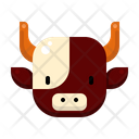 Cow Animal Celebration Icon