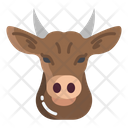 Cow Bull Agriculture Icon
