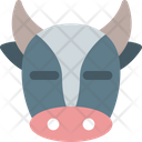 Cow Closed Eyes Icon
