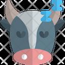 Cow Sleeping Icon