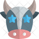 Cow Star Struck Icon