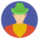 Cowboy Hat Boots Icon
