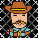 Cowboy Hat Man Icon