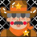 Cowboy Western Man Icon