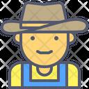 Cowboy Farmer Hat Icon