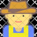 Cowgirl Farmer Hat Icon