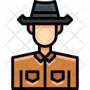 Cowboy Animal Herder Cowman Icon