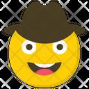 Cowboy Emoji Emoticon Smiley Icon