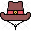 Cowboy Hat Headdress Icon