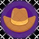 Cowboy Cap Cowboy Hat High Crowned Hat Icon