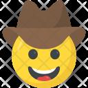 Cowboy Smiley Emoji Icon