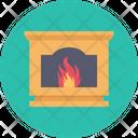 Cozy Fireplace Firewood Icon