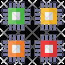 Cpu Dual Core Microprocessor Icon
