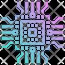 Cpu Chips Digital Icon