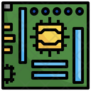 Cpu Chip Mainboard Cpu Tower Icon