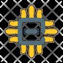 Cpu Microcontroller Chip Icon