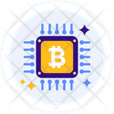 Bitcoin Chip Microchip Chip Icon