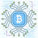 Cpu Mining Bitcoin Mining Blockchain Icon