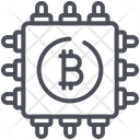 Cpu Cryptocurrency Mining Icon
