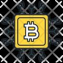 Cpu Mining Microchip Bitcoin Icon