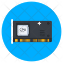 Cpu Processor Cpu Chip Microprocessor Icon