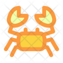 Crab Summer Vacation Icon