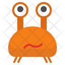 Crab Emoji Icon of Line style - Available in SVG, PNG, EPS