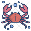 Crab Sea Animal Seafood Icon