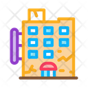 Crack Residential Building Icon