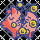 Cracked Piggy Icon