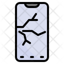Broken Mobile Phone Icon