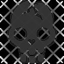 Cracked Skull Icon
