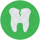 Cracked Tooth Damaged Icon