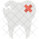 Tooth Damaged Cracked Icon