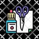 Crafting Tool Scissor Ink Icon