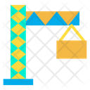 Tower Crane Engineering Crane Construction Icon
