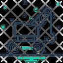 Crane Bulldozer Construction Icon