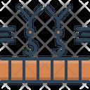 Overhead Crane Machinery Icon