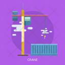 Crane Container Cargo Icon